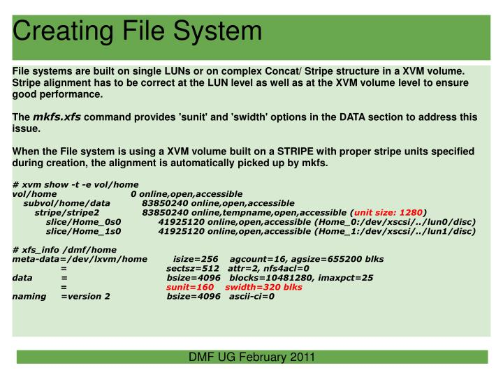 Creating File System