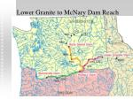 lower granite to mcnary dam reach
