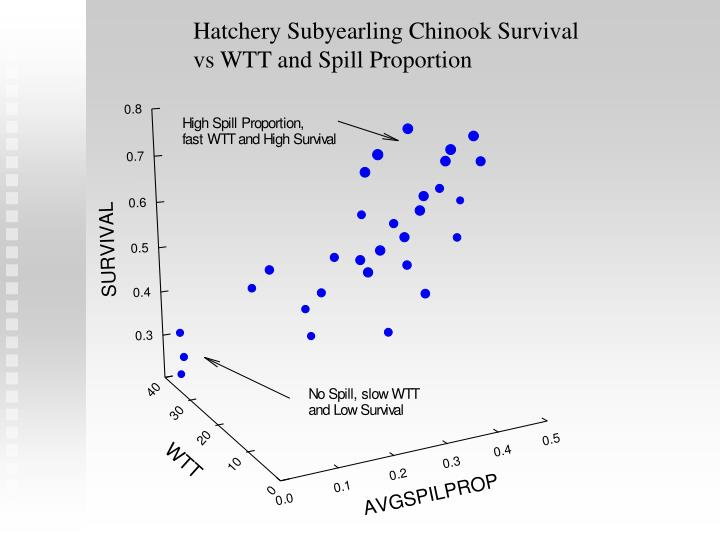 Hatchery Subyearling Chinook Survival