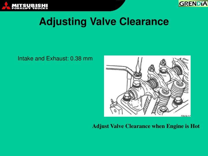 Adjusting Valve Clearance