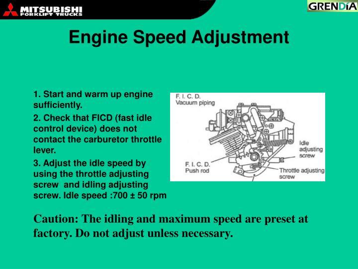 Engine Speed Adjustment