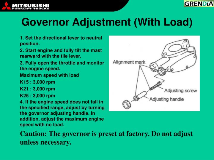 Governor Adjustment (With Load)