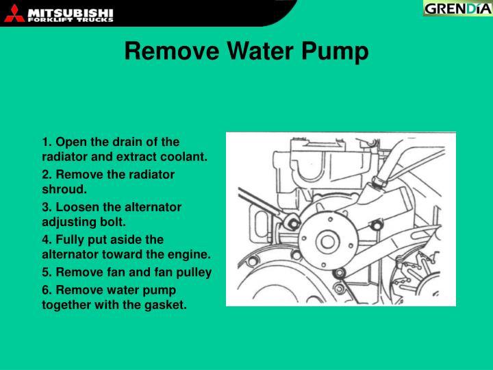 Remove Water Pump