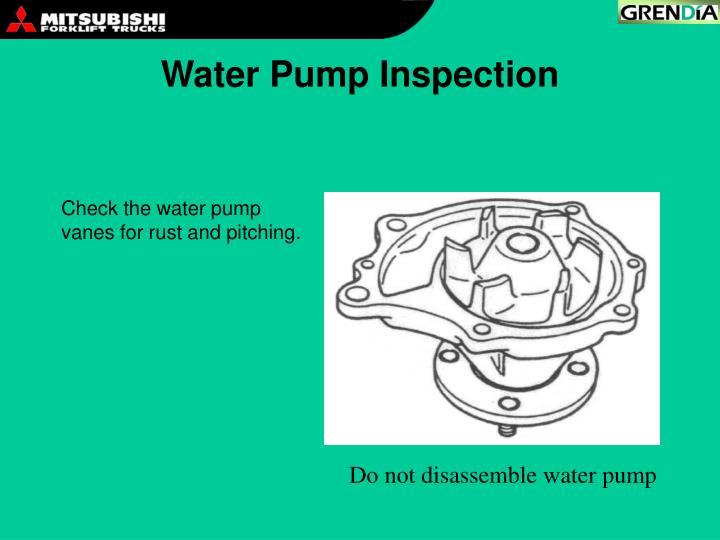 Water Pump Inspection