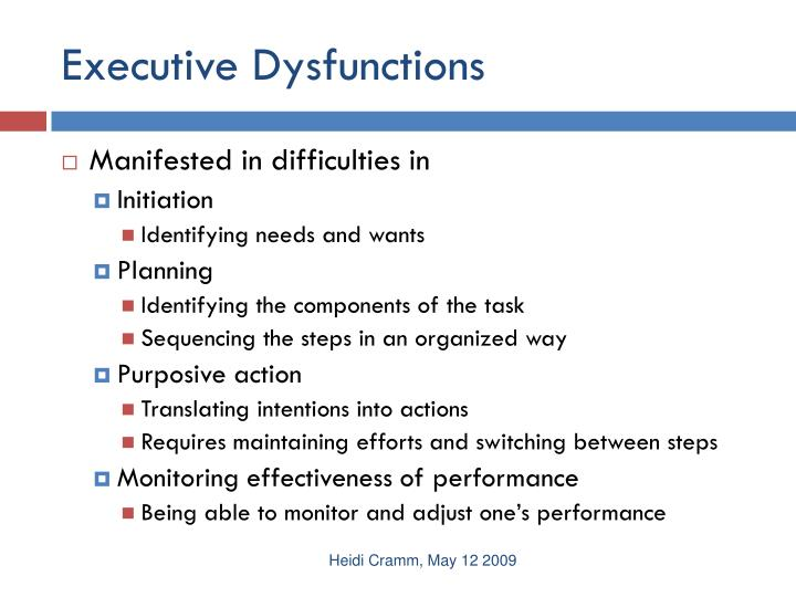 Executive Dysfunctions