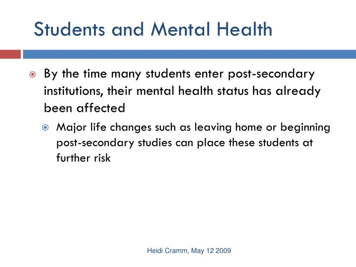 Students and Mental Health
