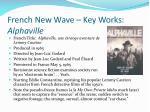 french new wave key works alphaville