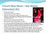 french new wave key works fahrenheit 451