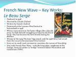 french new wave key works le beau serge