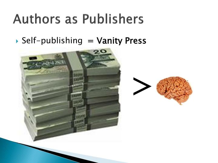 Authors as Publishers