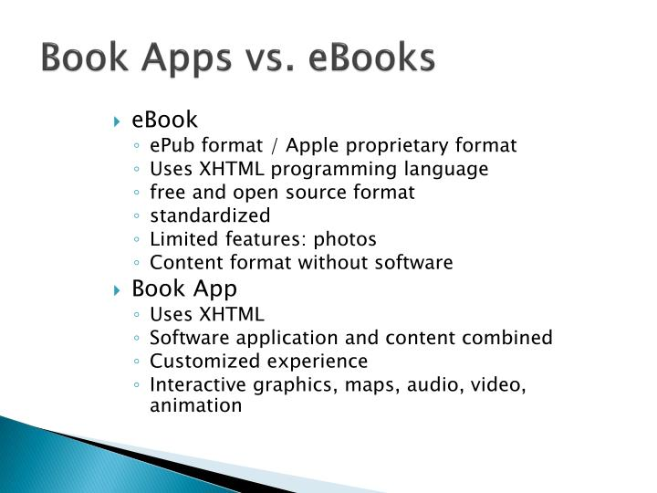 Book Apps vs. eBooks