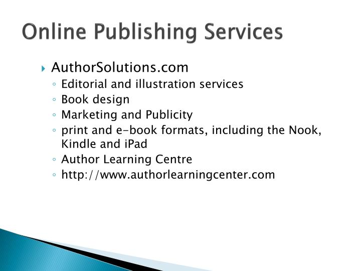 Online Publishing Services