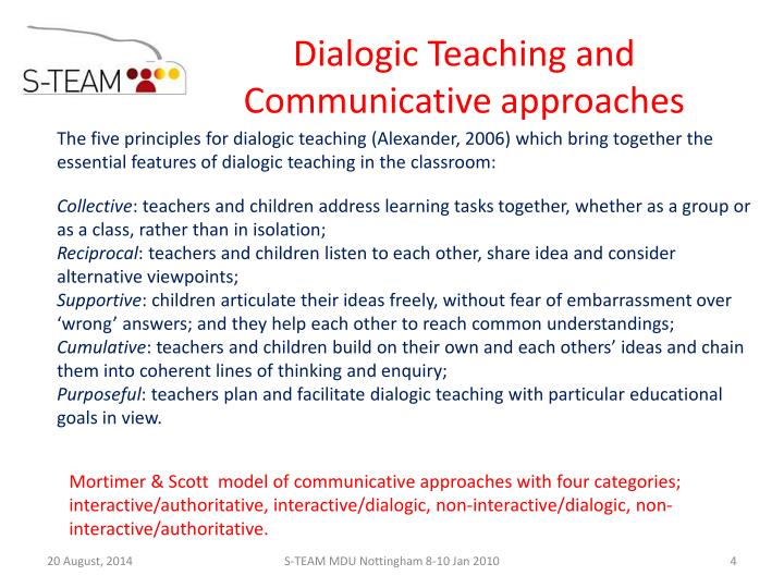 Dialogic Teaching and Communicative approaches