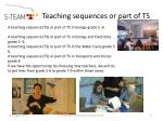 teaching sequences or part of ts