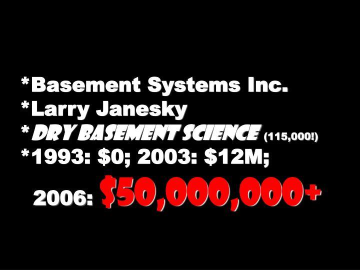 *Basement Systems Inc.
