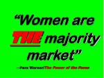 women are the majority market fara warner the power of the purse