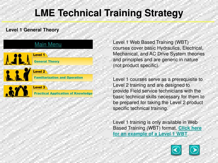 Lme technical training strategy1