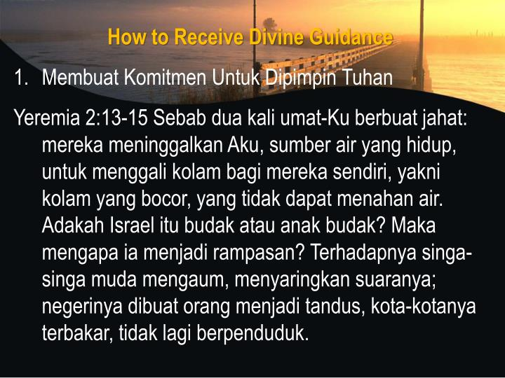 How to Receive Divine Guidance