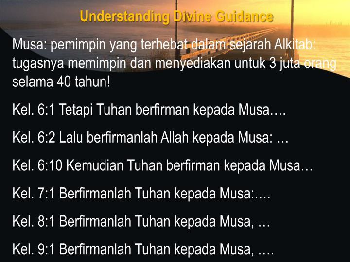 Understanding Divine Guidance