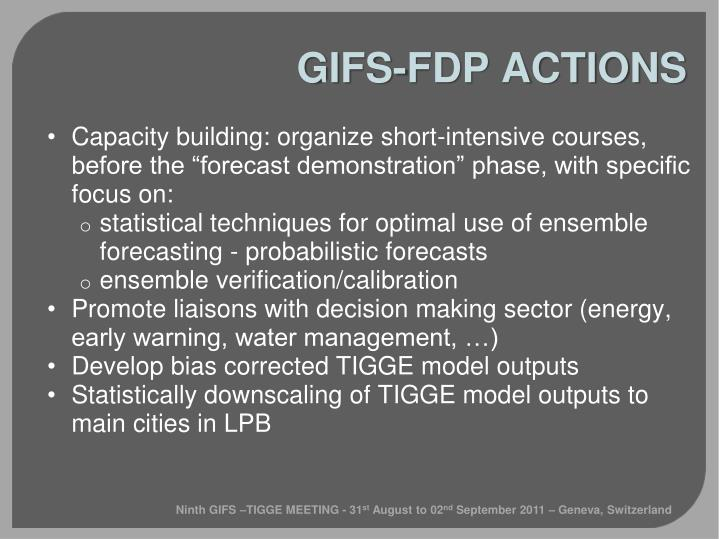 GIFS-FDP ACTIONS