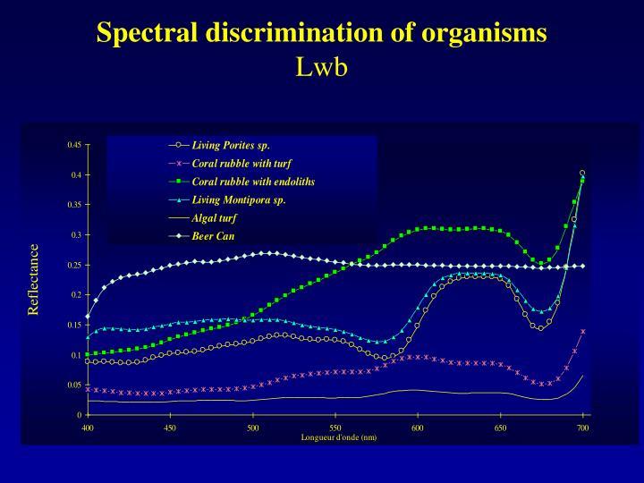 Spectral discrimination of organisms