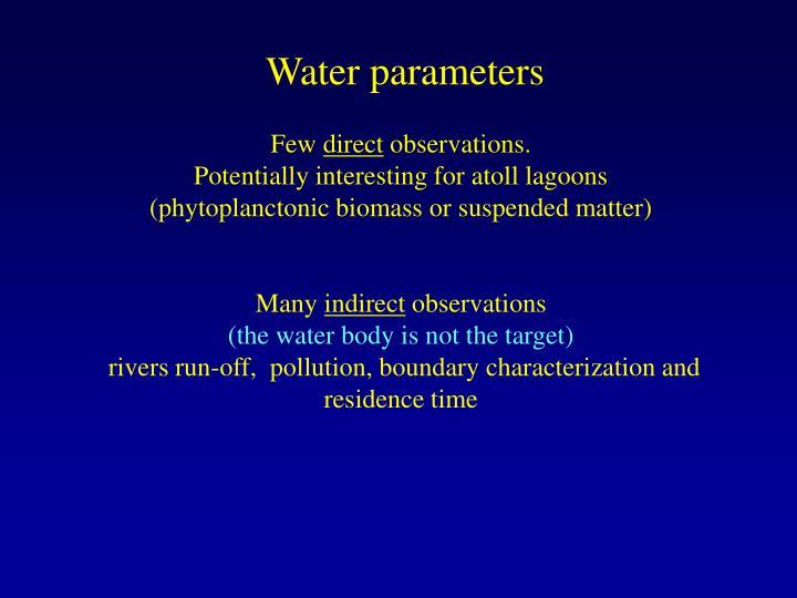 Water parameters