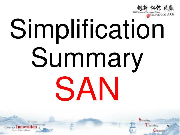 Simplification Summary