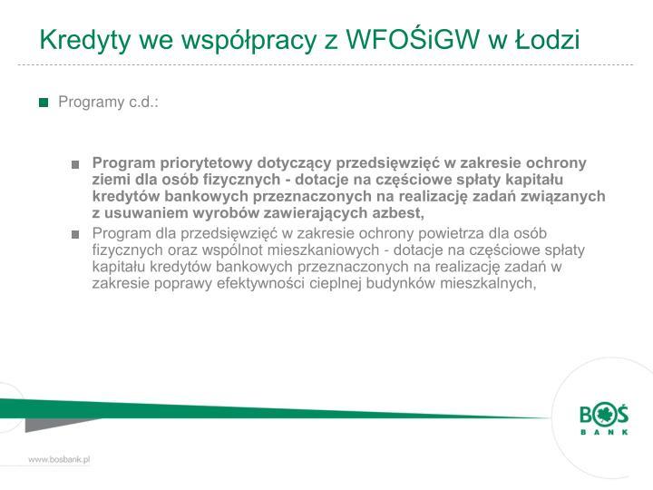 Kredyty we współpracy z WFOŚiGW