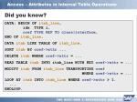access attributes in internal table operations