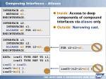 composing interfaces aliases