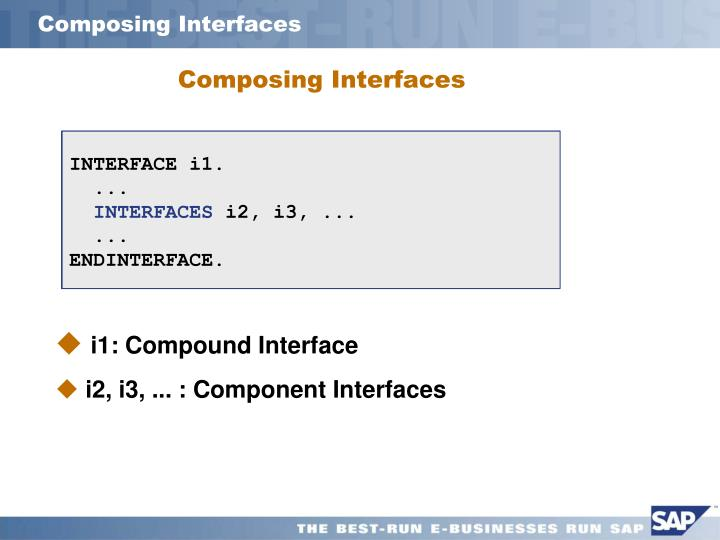 Composing Interfaces