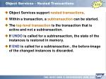 object services nested transactions