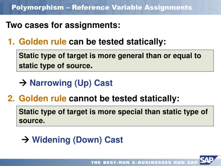 Polymorphism – Reference Variable Assignments