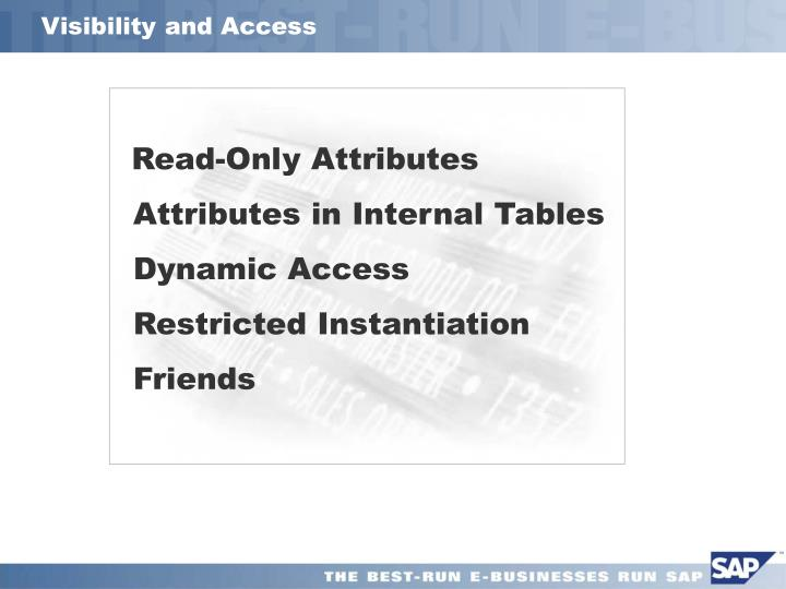 Visibility and Access