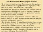 from mentalese to the language of neurons