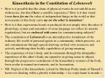 kinaesthesia in the constitution of lebenswelt