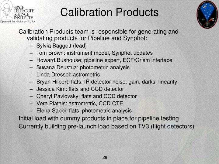 Calibration Products