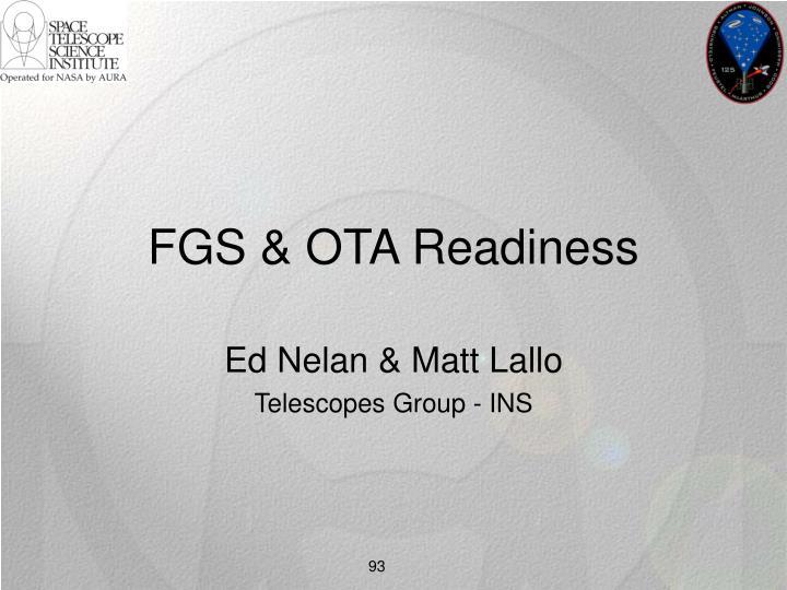 FGS & OTA Readiness