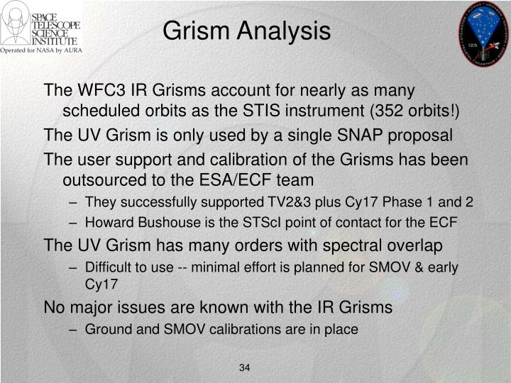 Grism Analysis