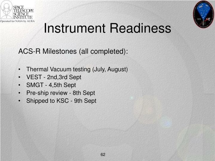 Instrument Readiness
