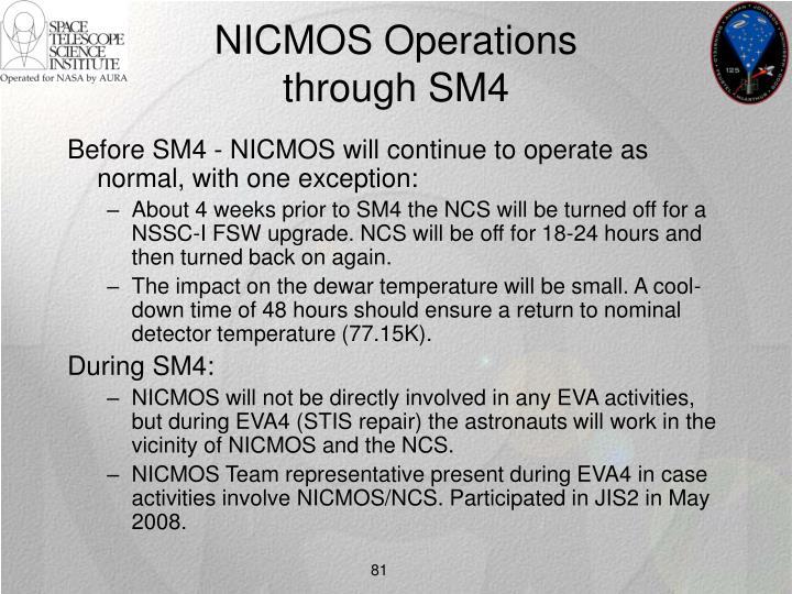 NICMOS Operations