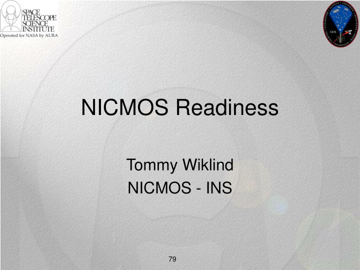 NICMOS Readiness