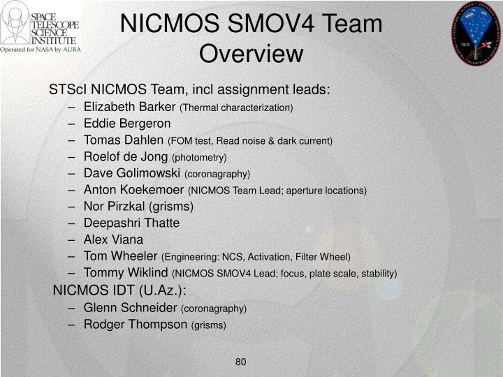 NICMOS SMOV4 Team