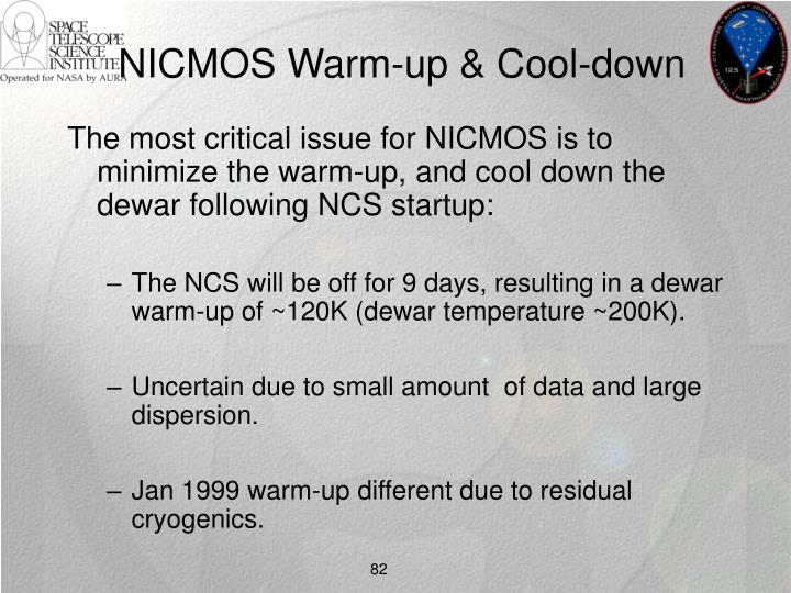 NICMOS Warm-up & Cool-down