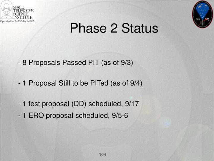 Phase 2 Status
