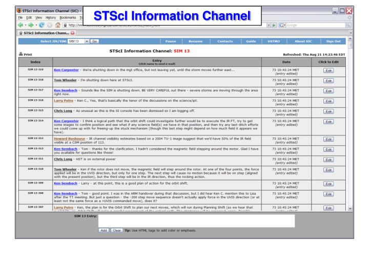 STScI Information Channel