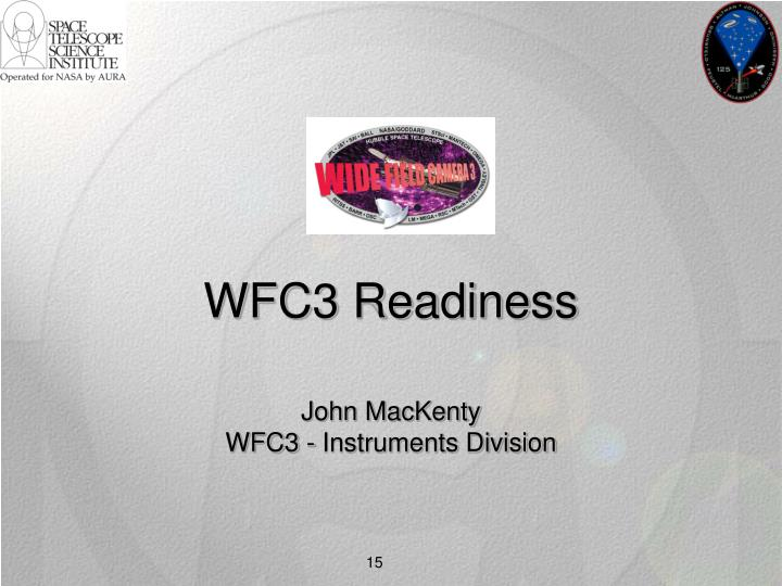 WFC3 Readiness