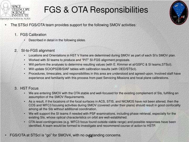 FGS & OTA Responsibilities