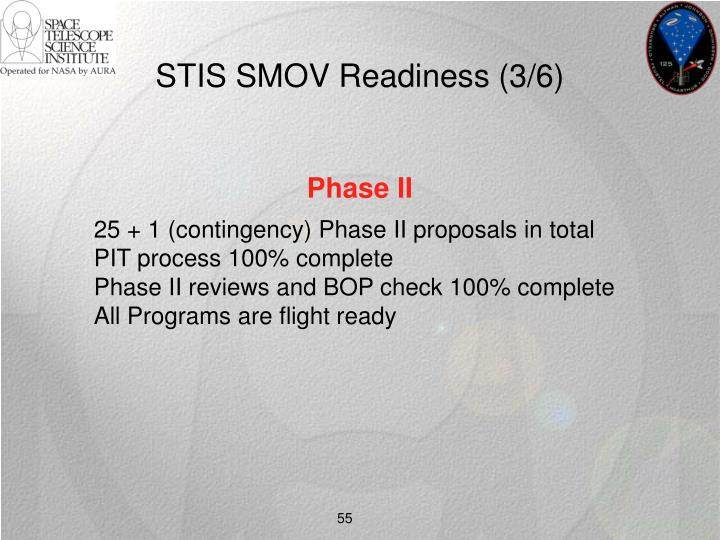 STIS SMOV Readiness (3/6)