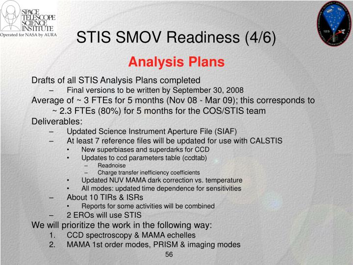 STIS SMOV Readiness (4/6)